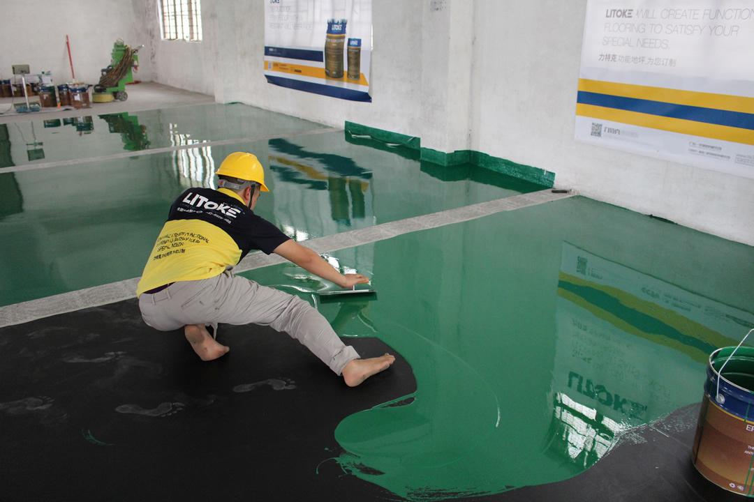 力特克环氧树脂防静电面涂地坪漆