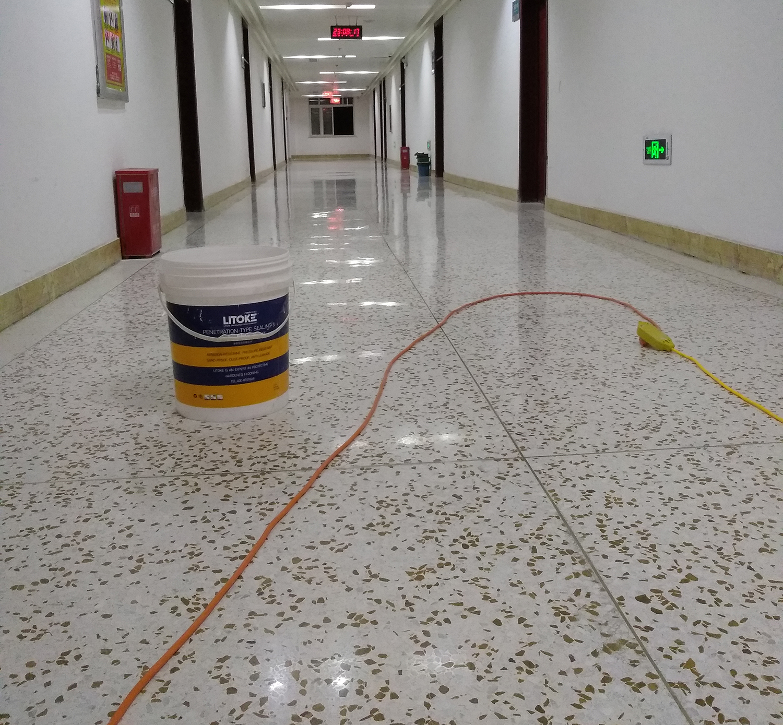 水磨石硬化地坪
